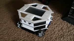 Partially assembled top view