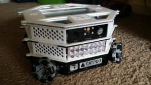 Front view showing IR LEDs and camera
